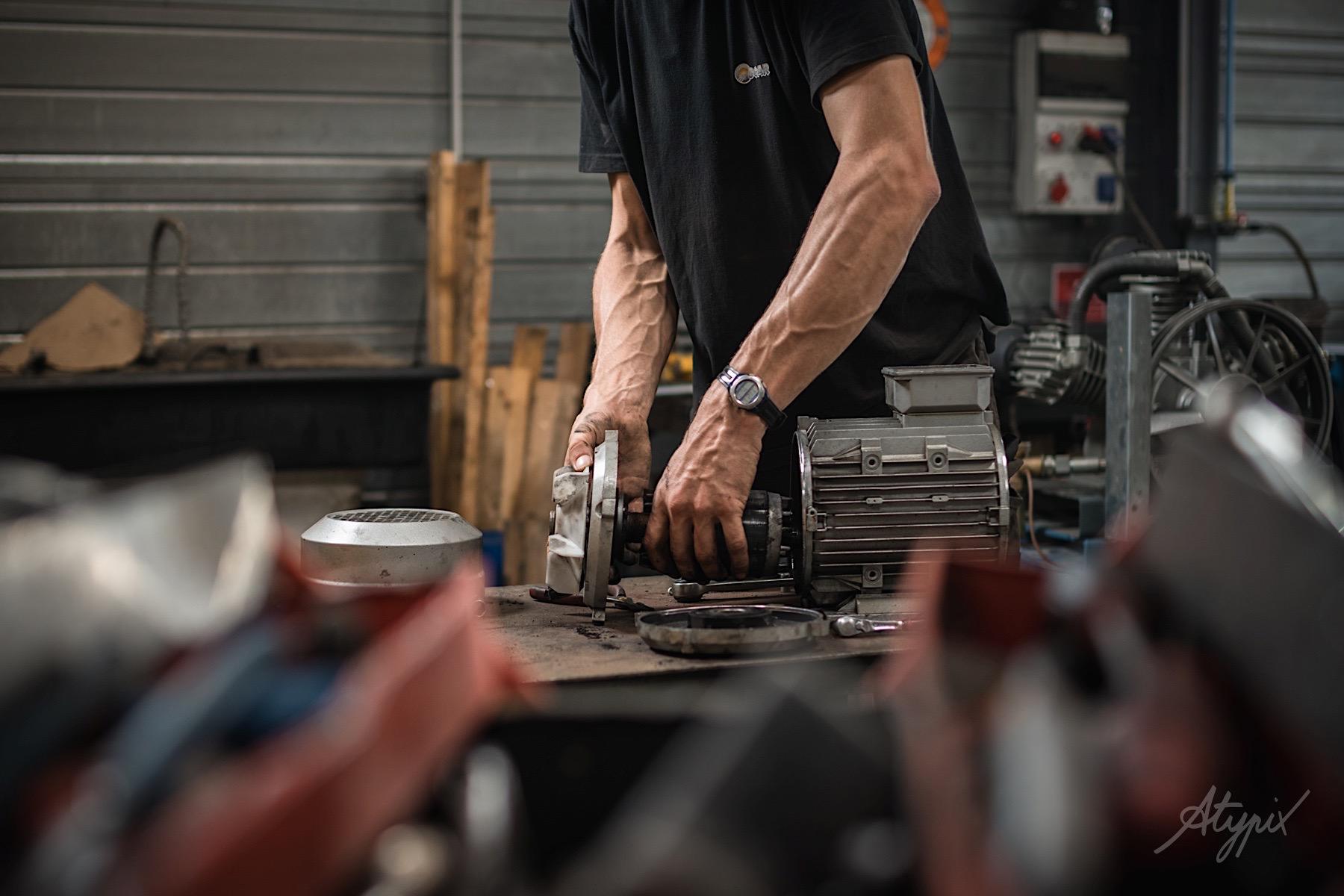 photographe mécanique moteur