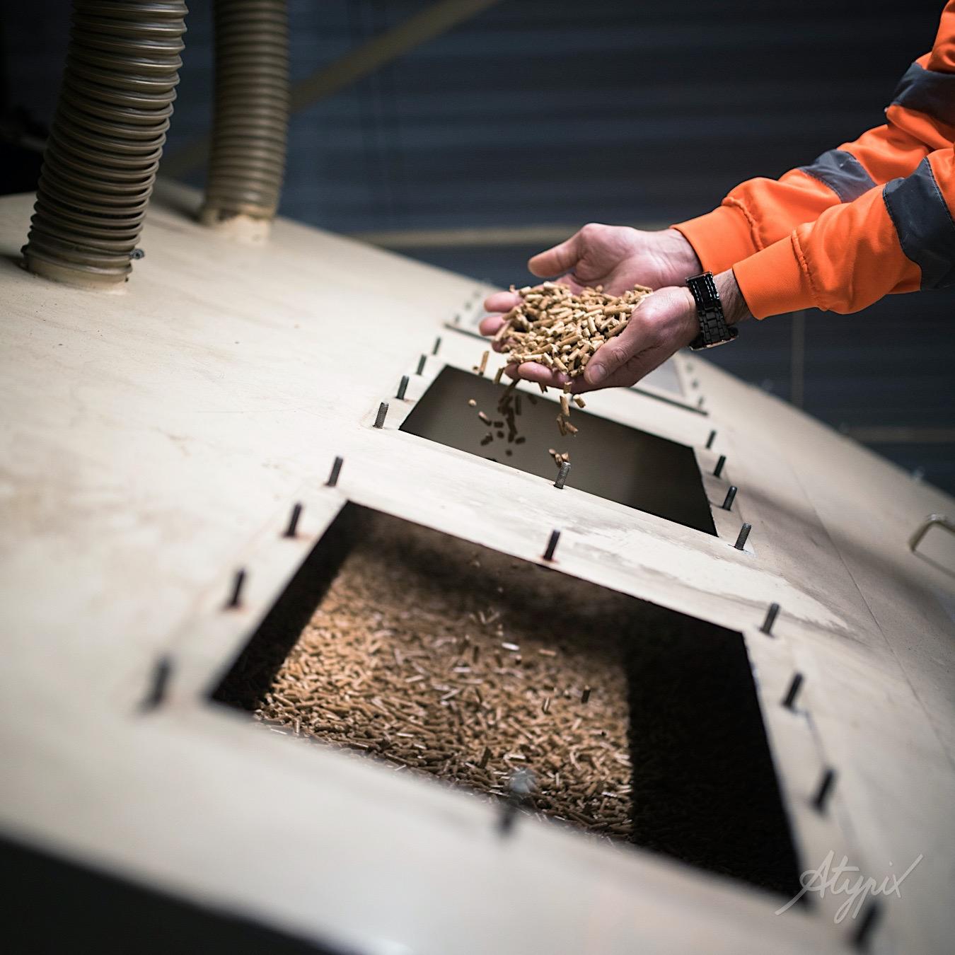 buche bois densifié granules