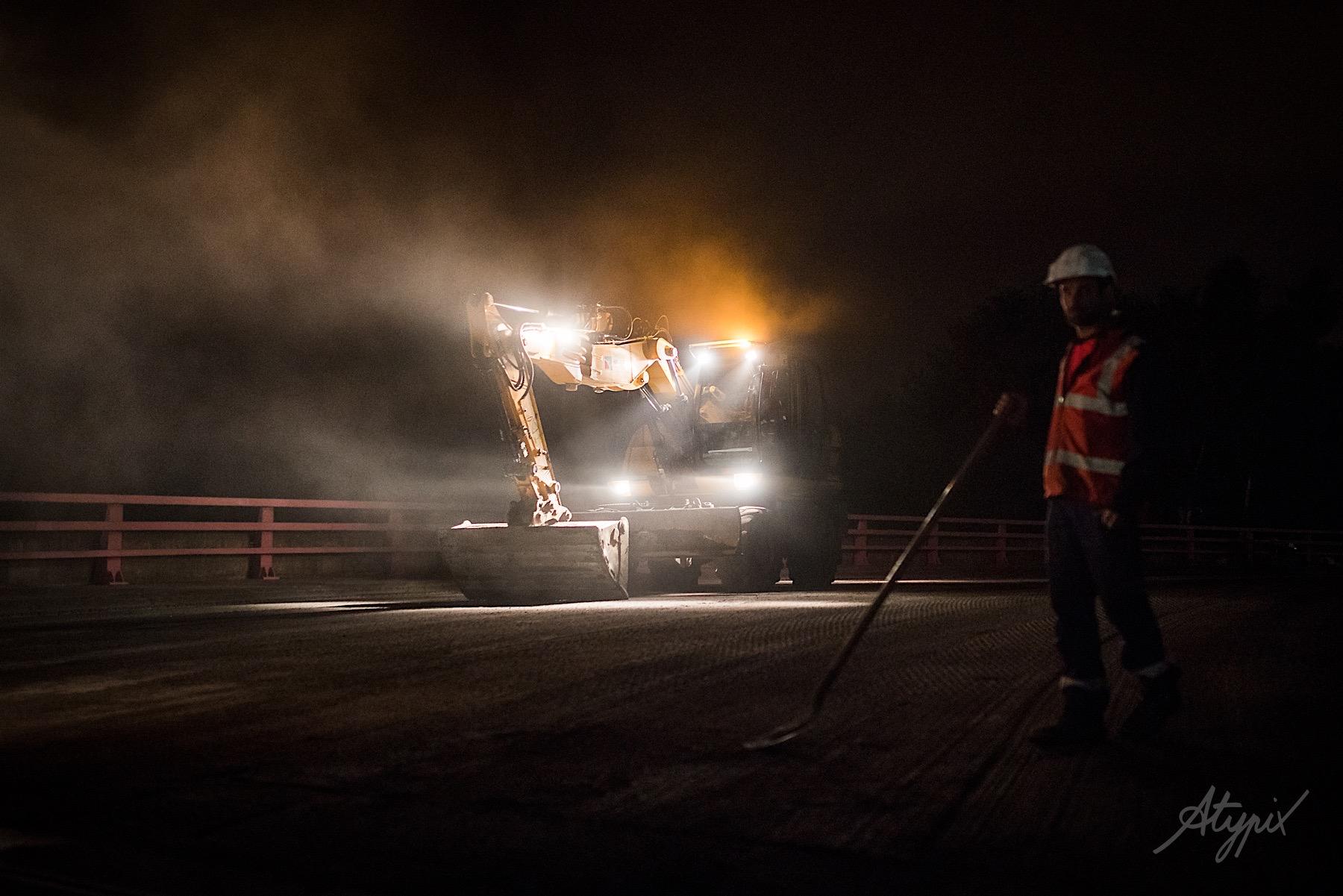 travaux de nuit travaux publics eurovia
