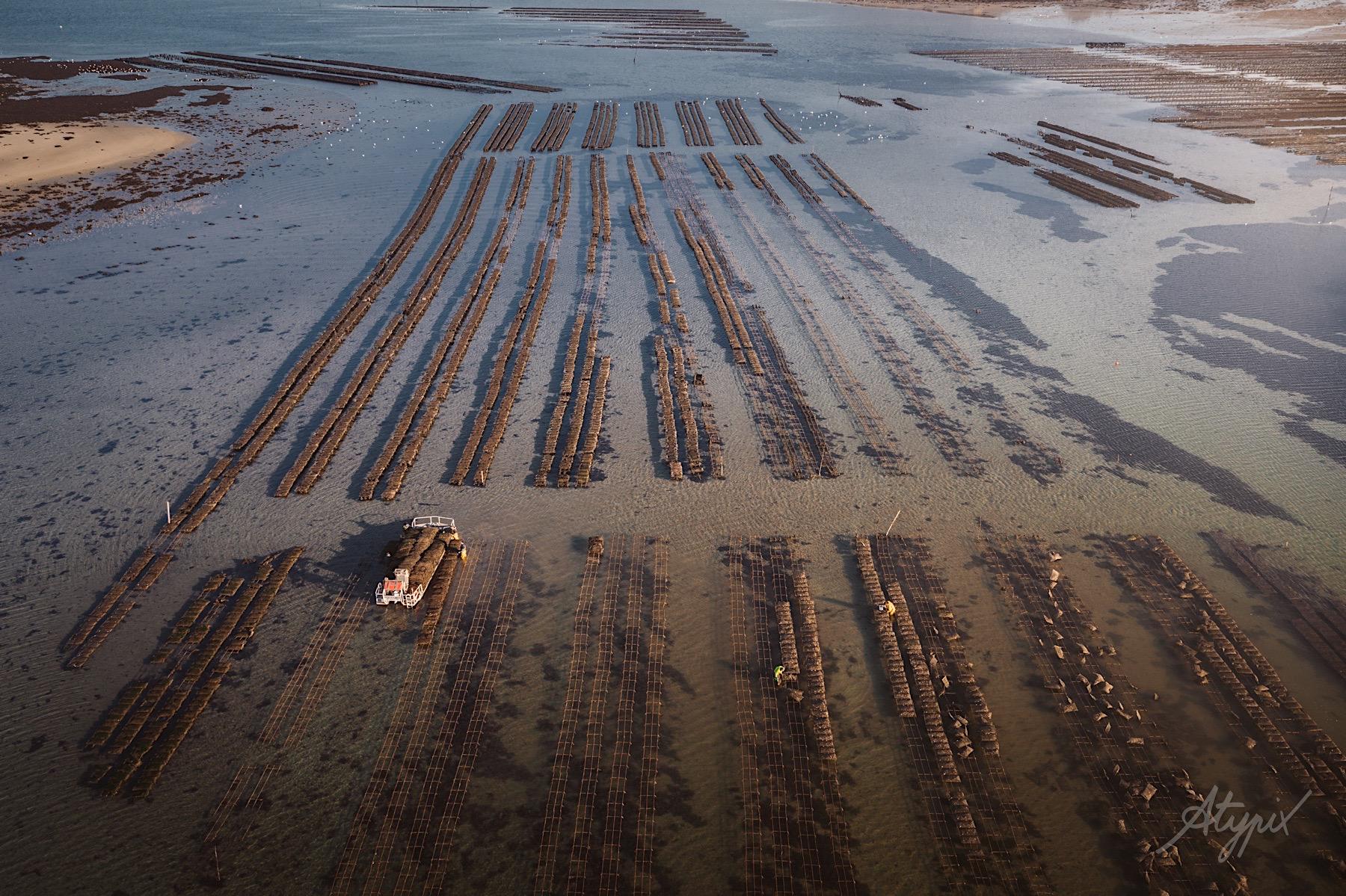 photographies aériennes ostréiculture arcachon