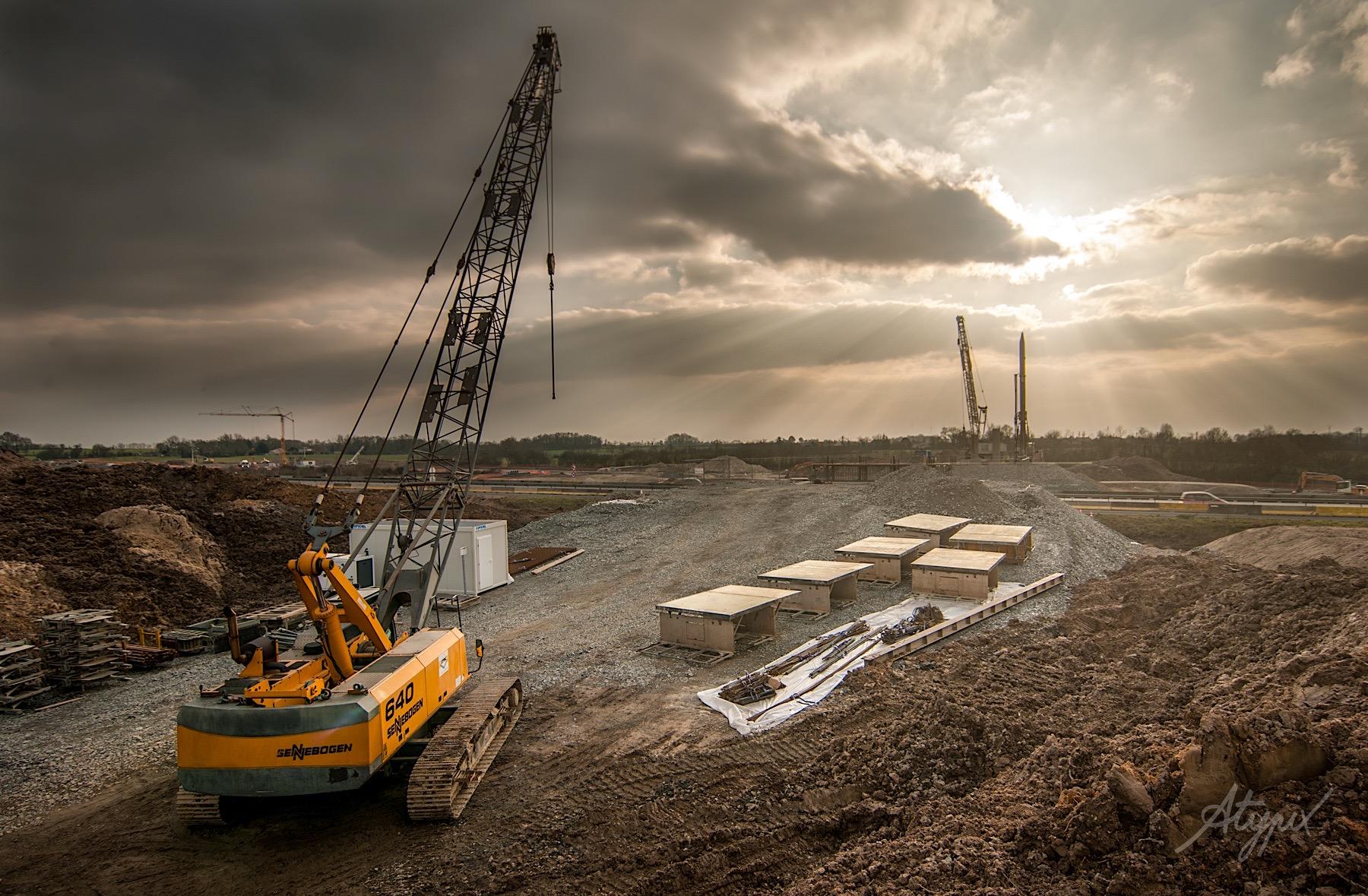 chantier travaux autoroute