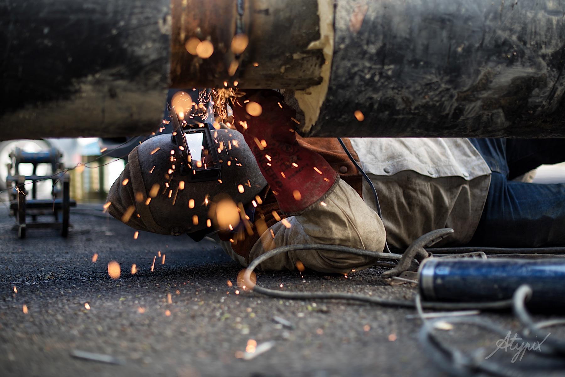 photographe ouvrier soudeur réseau chaleur