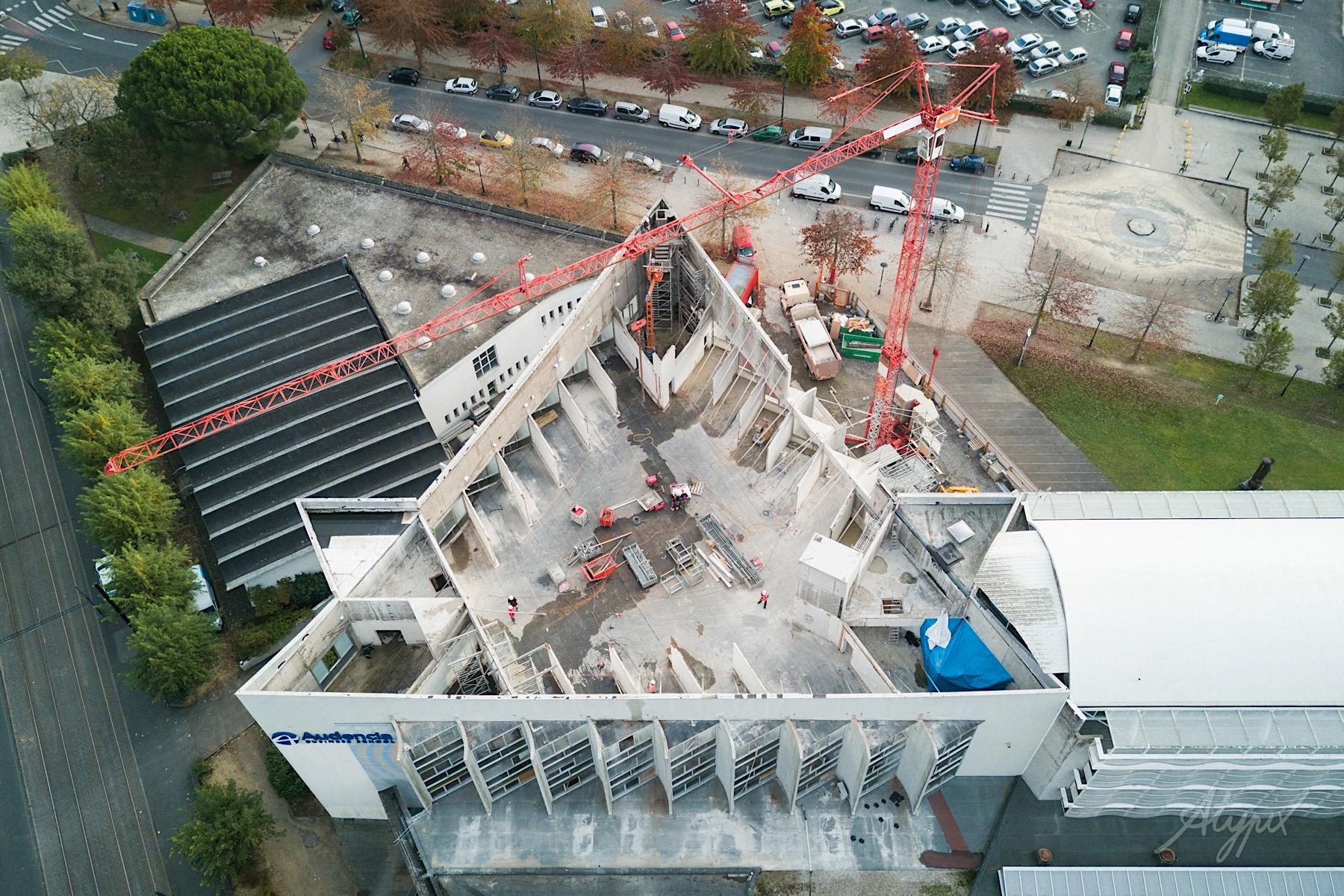 photographie aérienne chantier bâtiment