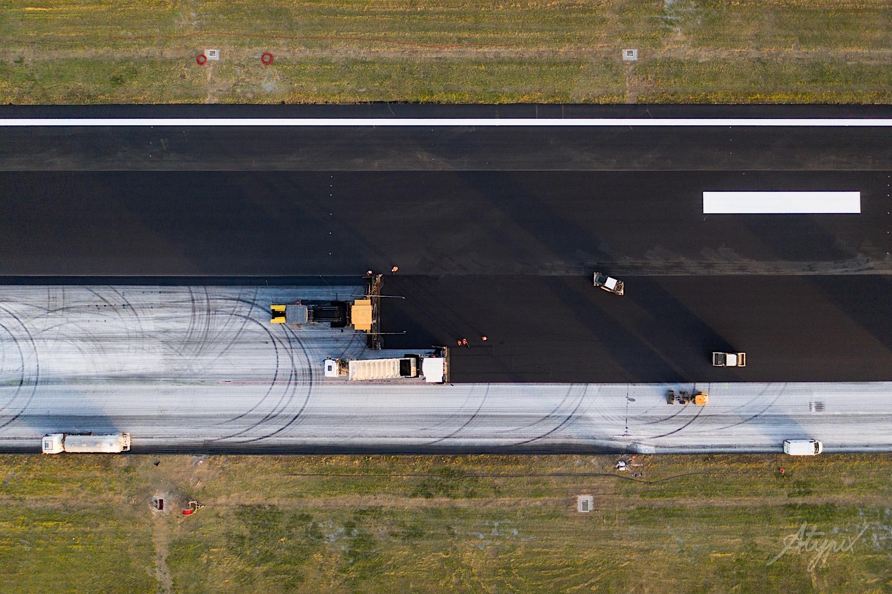 photographie aérienne chantier nantes