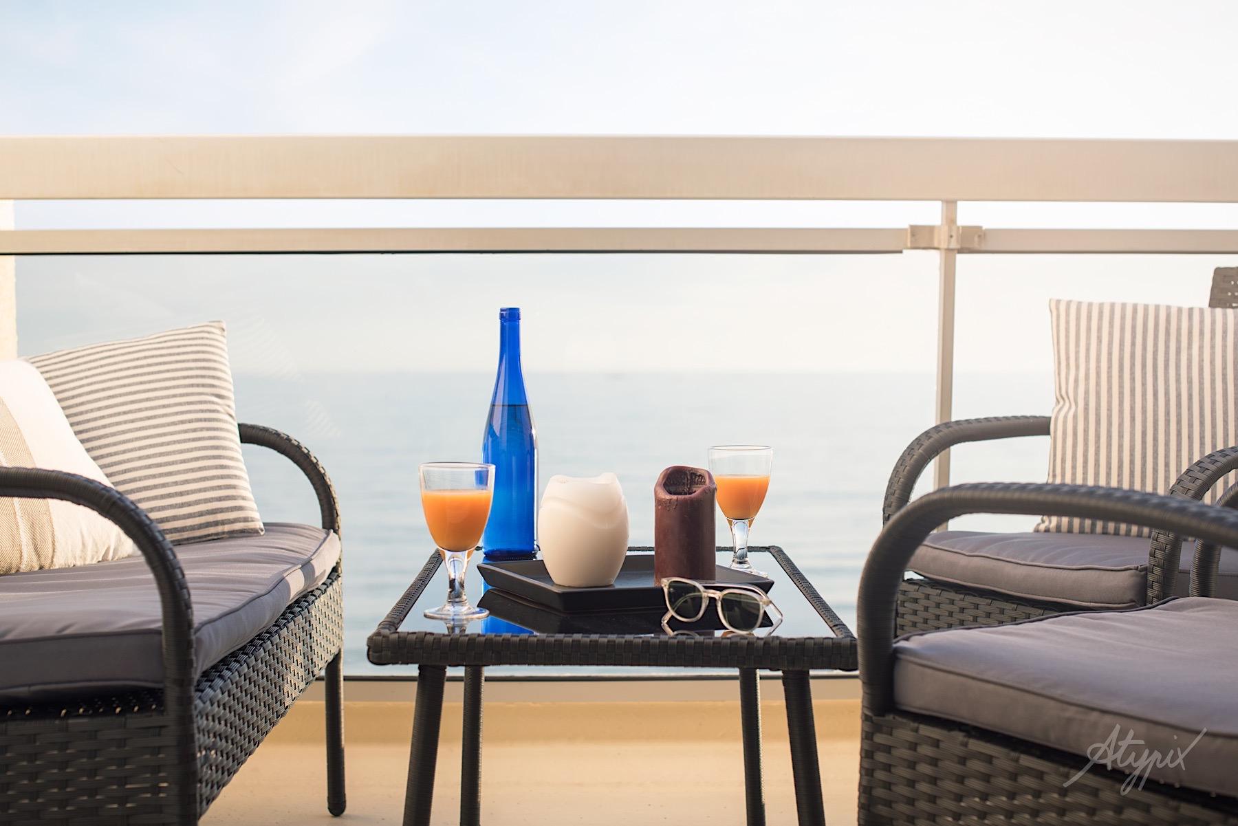 terrasse hotel vue sur mer
