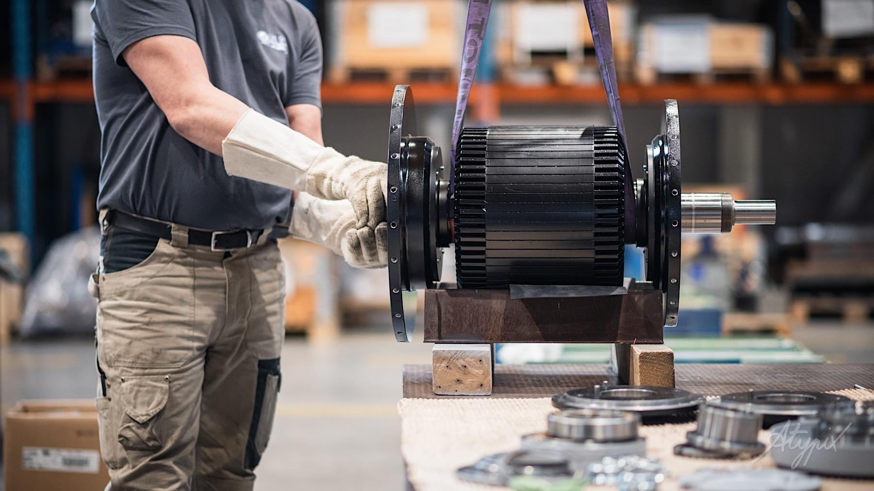 conception moteur électrique usine