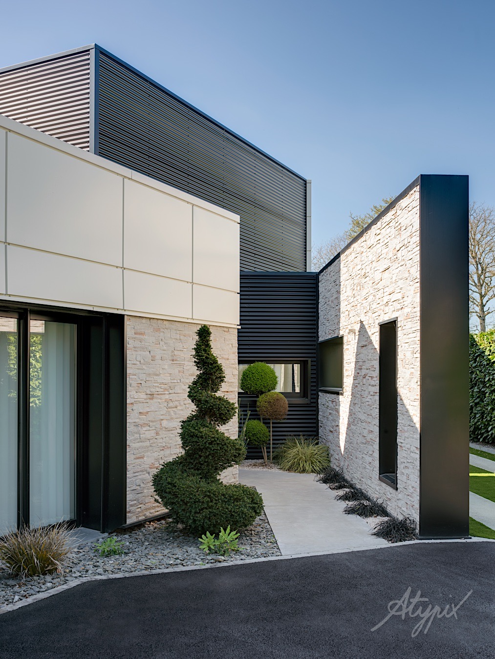 entrée maison architecte