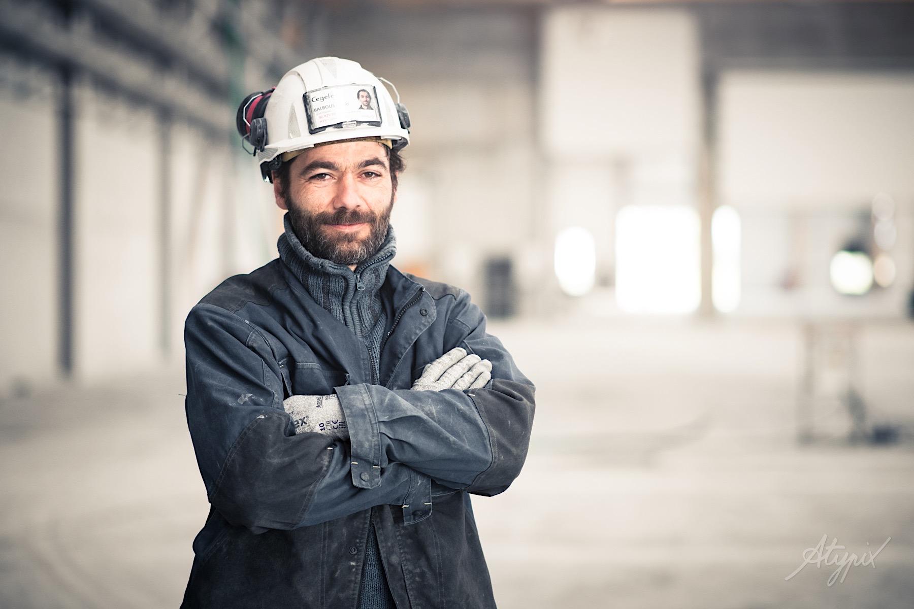 portrait ouvrier bâtiment