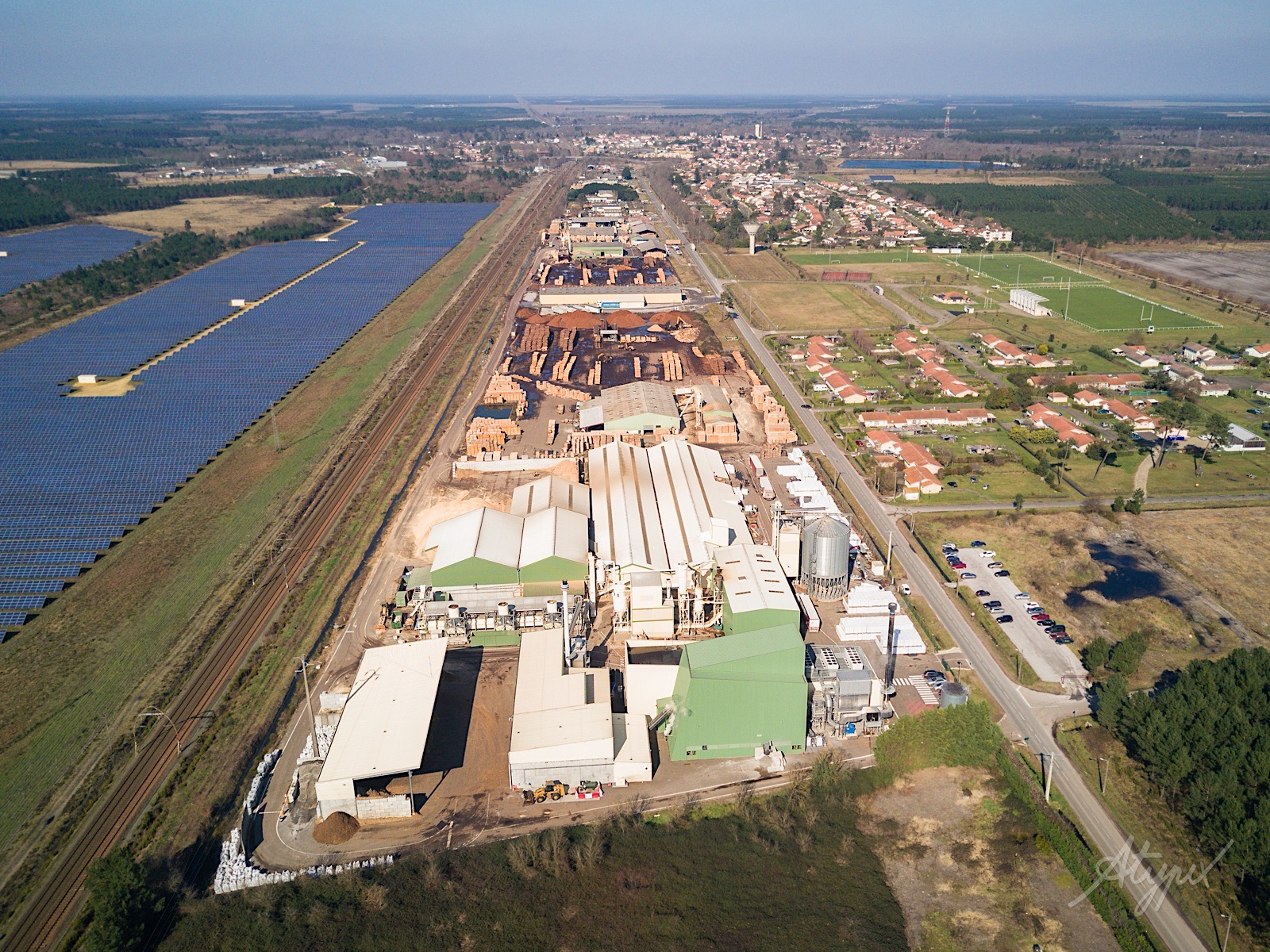 photographie drone usine