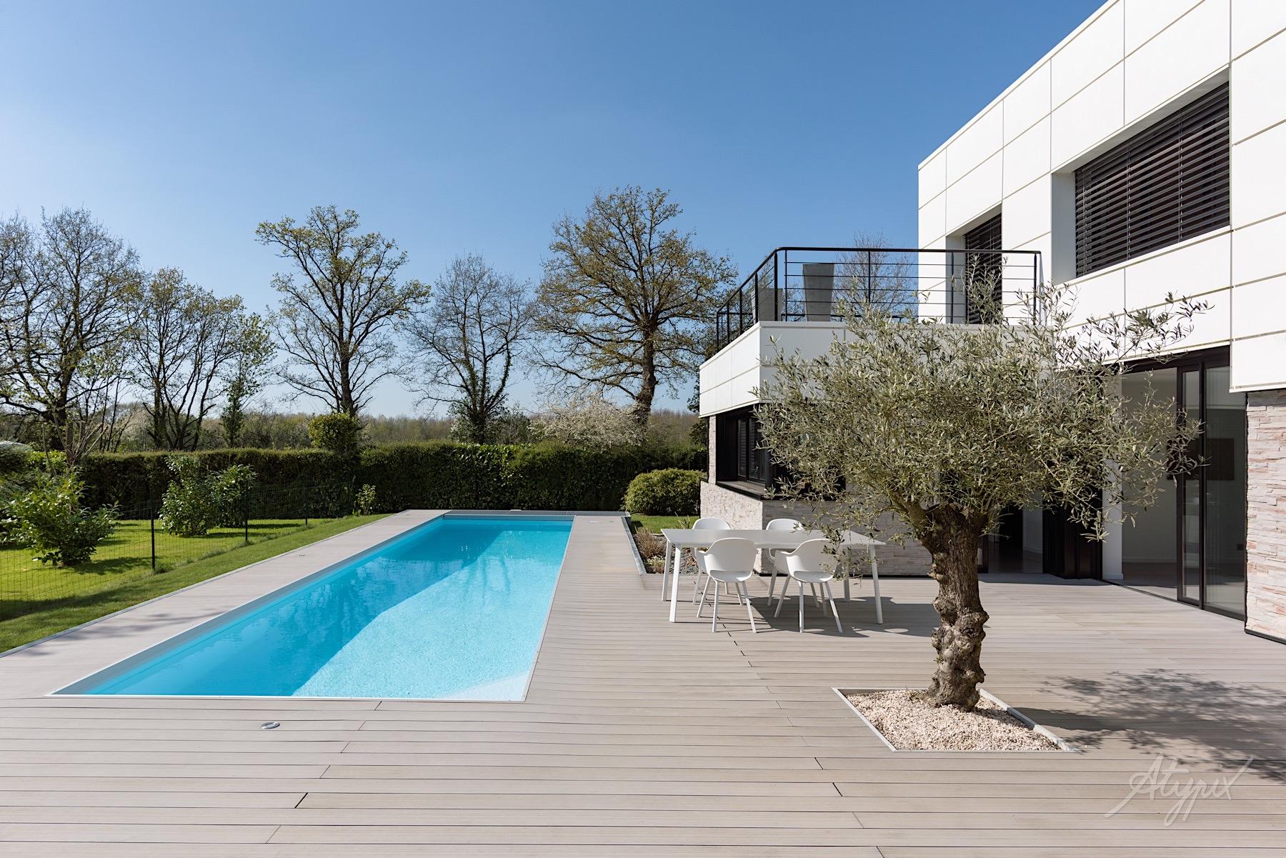 aménagement extérieur maison piscine