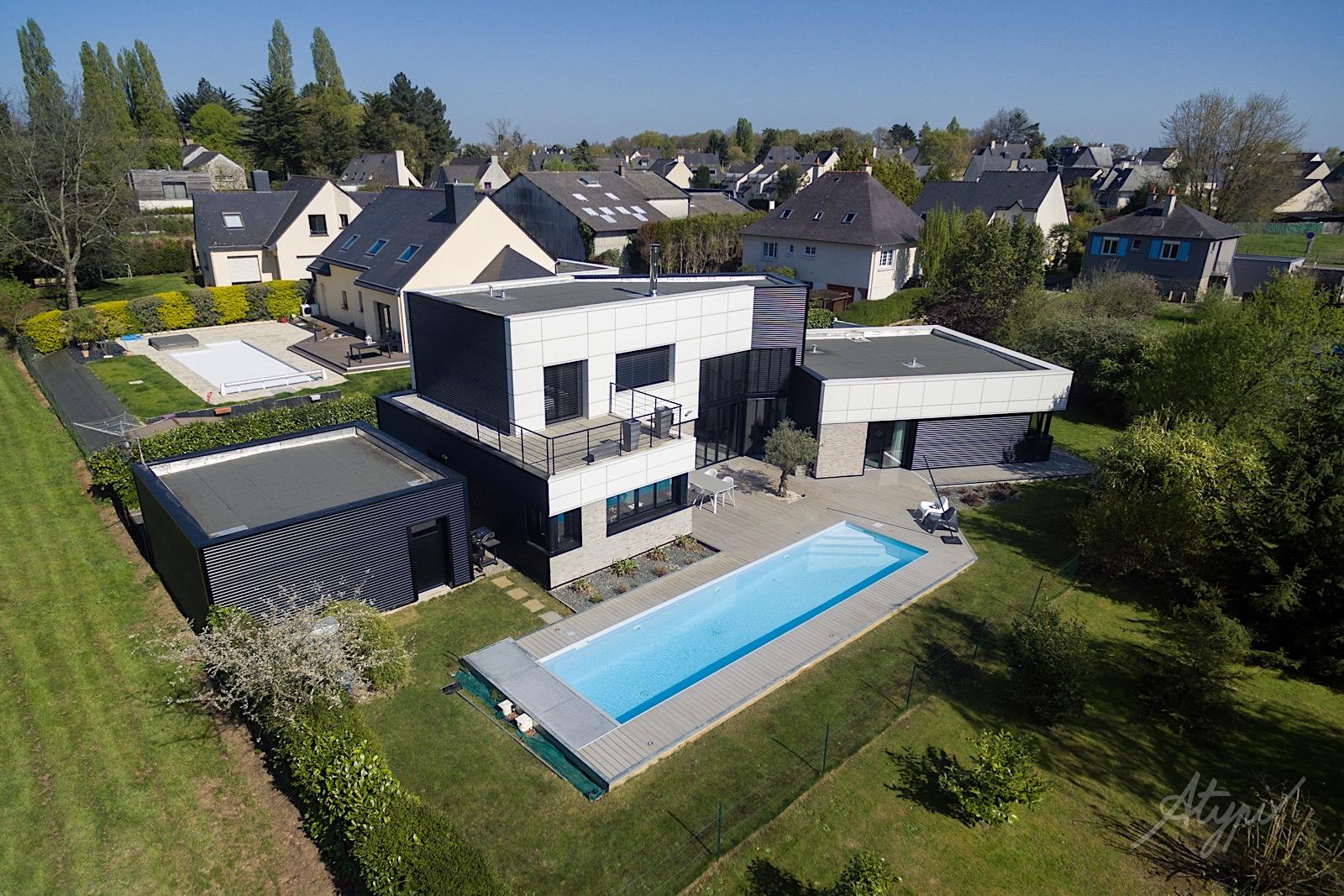 maison luxe vue par drone