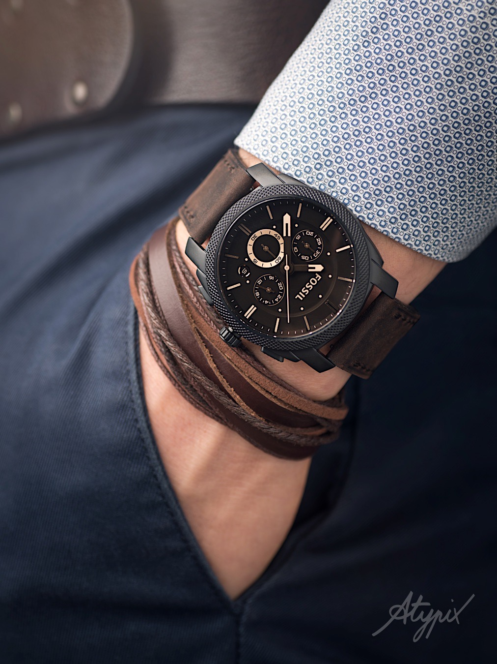 montre fossil homme lifestyle