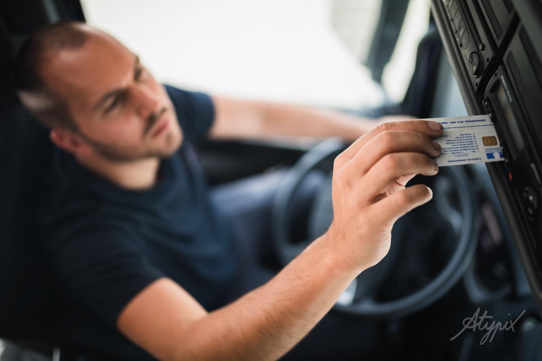chauffeur camion disque