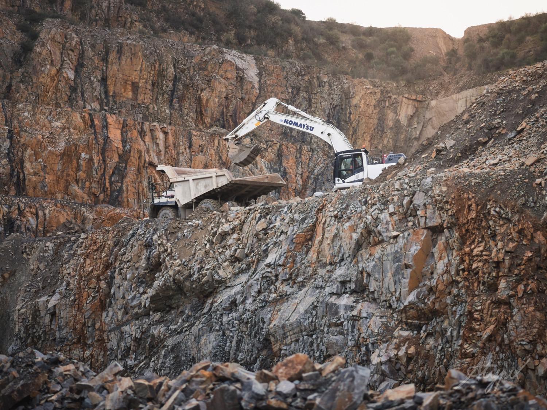 extraction pierre matériaux