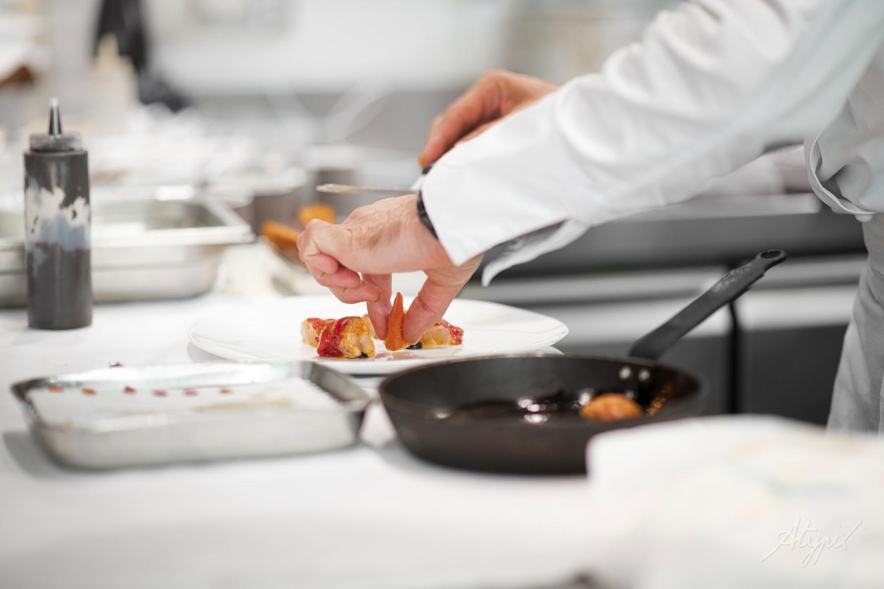 dressage assiette chef restaurant